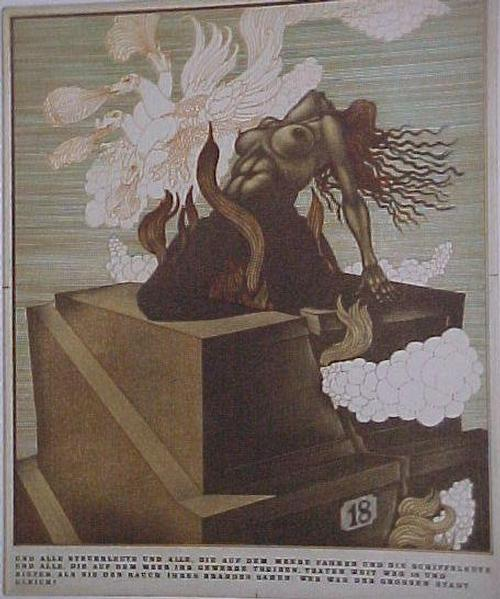 Marjan Vojska - einer von 7 Engeln, Einzelblatt aus Mappe Babylon, Los 69848 kopen? Bied vanaf 50!