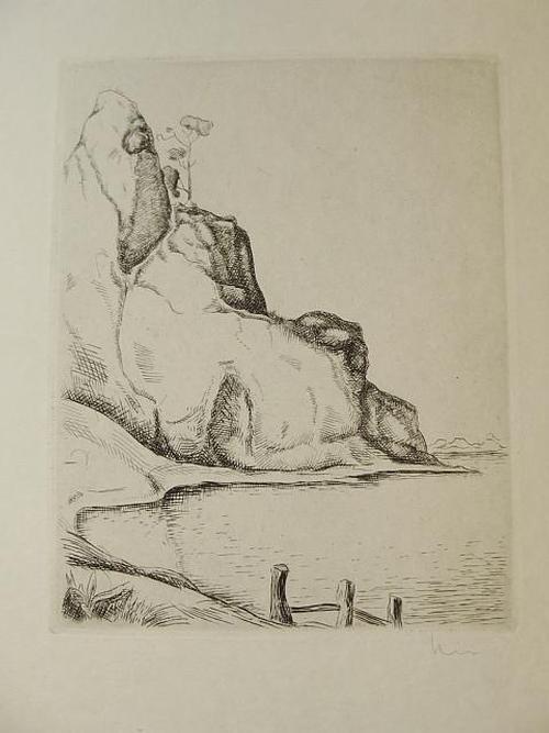 Phil. Kirn - Einsame Bucht. Balder-Presse. Handsignierter Kupferstich, von 1929 kopen? Bied vanaf 30!