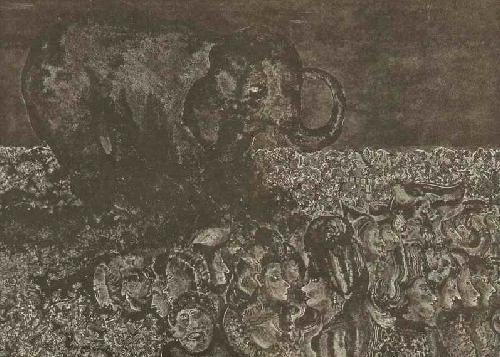 Alex Sadkowsky - ELEPHANT & MÜLL & MENSCHEN Handsignierte OriginalHandätzung des ZÜRICHer Künstlers (SPEKTRUM INDIEN) kopen? Bied vanaf 42!