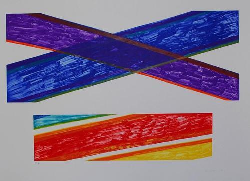 Piero Dorazio - Embonas, Lithographie, 1976, signiert, Exemplar e.a. kopen? Bied vanaf 150!