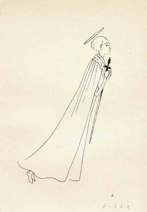 Georg G. Kobbe - ENGEL mit SCHWERT - Handsignierte OriginalSteinradierung des 1930 prämierten BERLINer Illustratoren kopen? Bied vanaf 32!