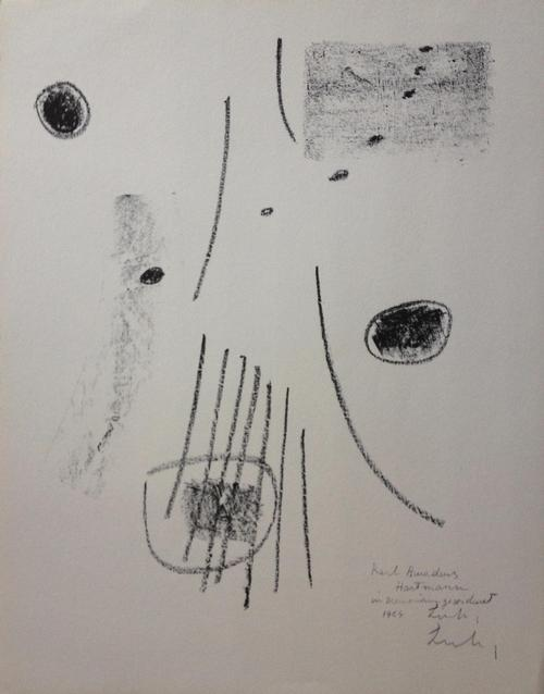 Berto Lardera - Epitaph für K.E.Hartmann, Lithographie, 1964, signiert, rückseitig nummeriert kopen? Bied vanaf 70!