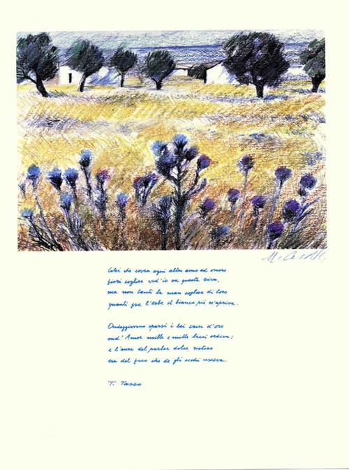 Michele Cascella - ERATO (südl. Landschaft), Fotolitho 1979, handsigniert kopen? Bied vanaf 40!