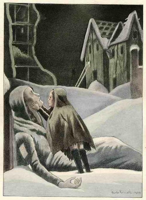 Carlo Farneti - ERFRORENE MUTTER - OriginalFarbLithographie des PARISer Künstlers aus NAPOLI 1934 BLUME des BÖSEN kopen? Bied vanaf 36!