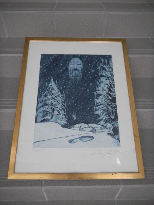 """Ernst Fuchs - Ernst FUCHS,""""Die verlorene Spur"""",Radierung aus 1972,handsign. kopen? Bied vanaf 490!"""