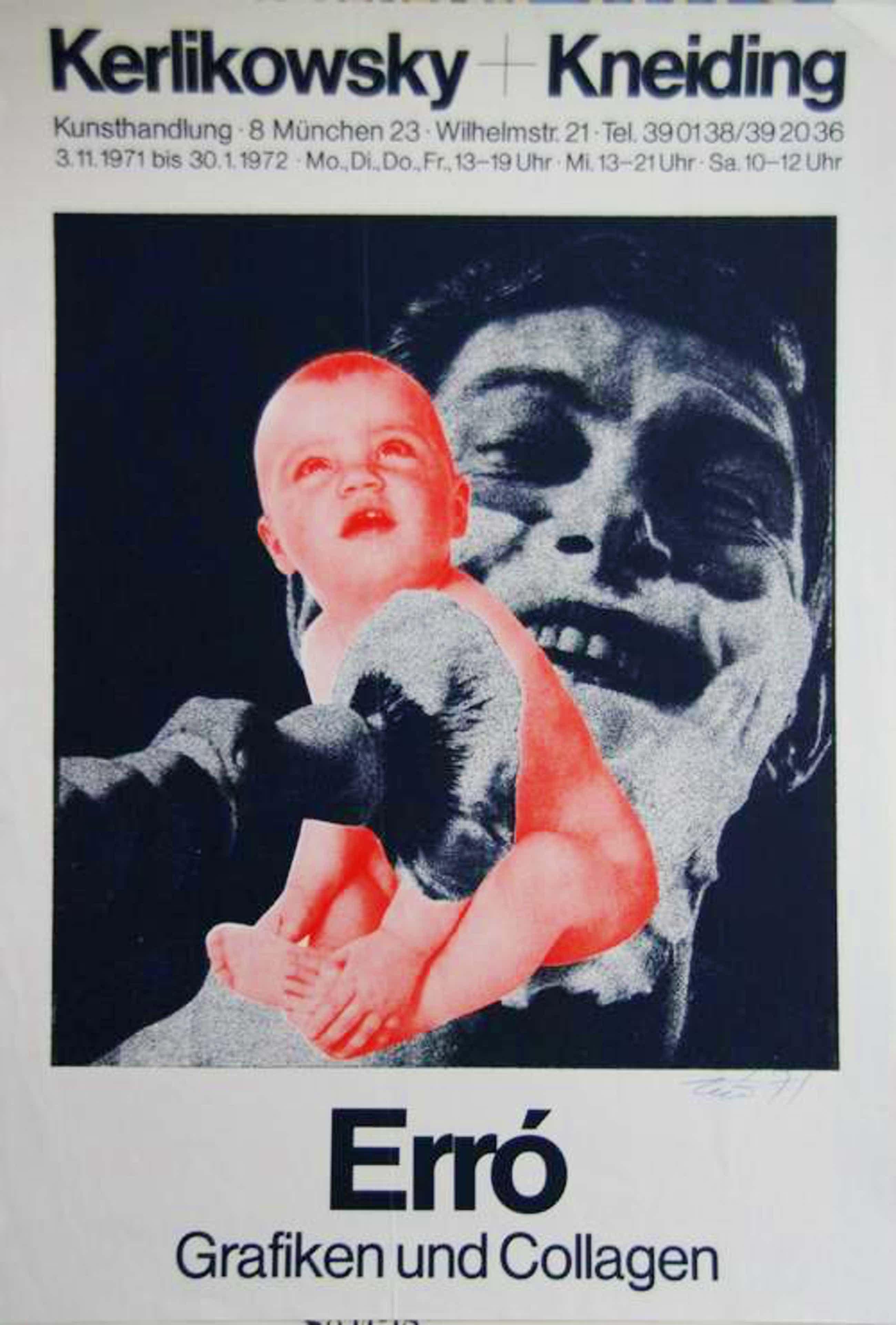 Erro - Erro Plakat, signiert, Kerlikowsky + Kneiding, München, 3.11.1971 bis 30.1.1972 kopen? Bied vanaf 90!
