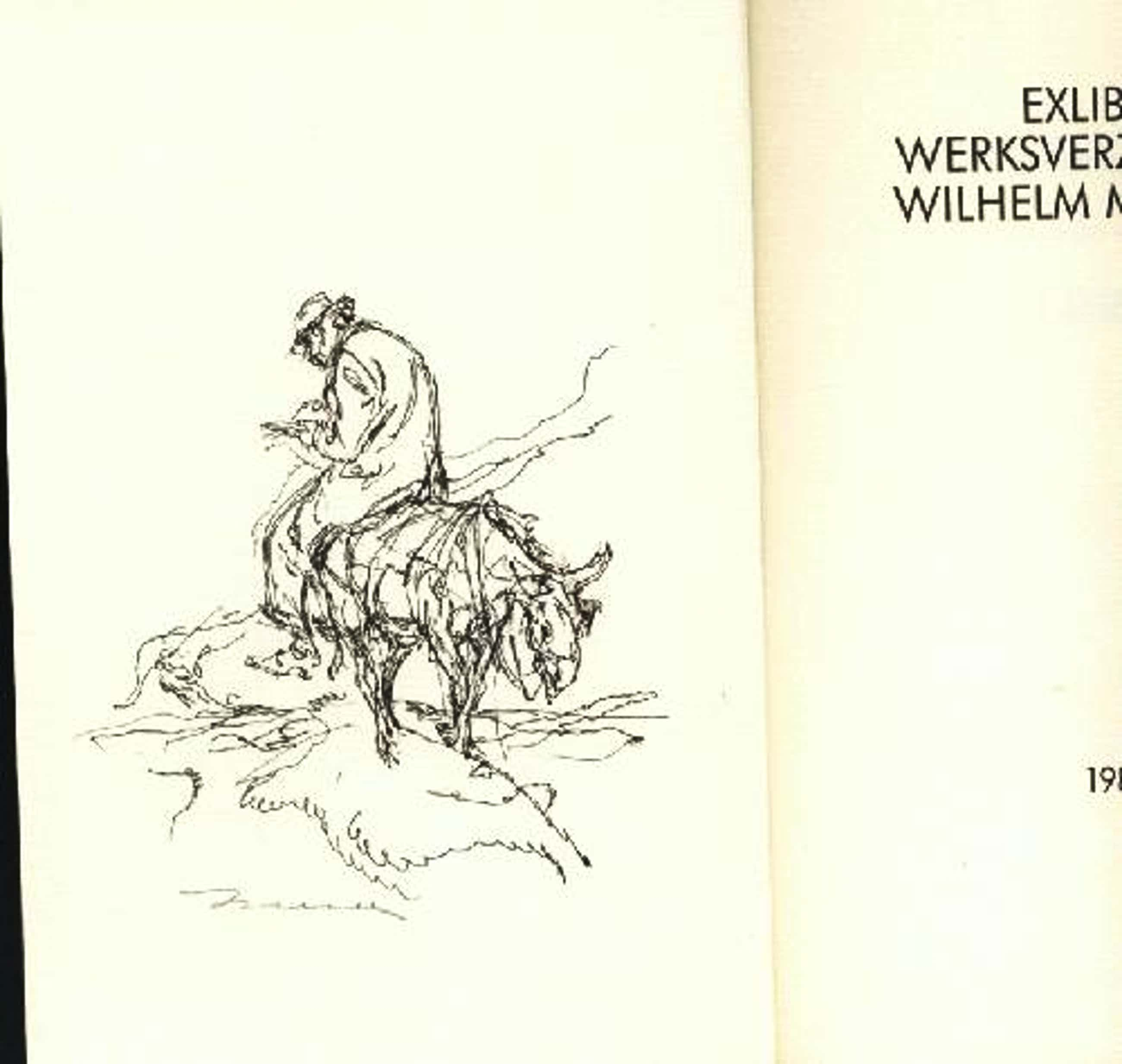 Wilhelm M. Busch - Exlibris Werksverzeichnis Wilhelm M.Busch mit einer sign.Lithographie kopen? Bied vanaf 90!