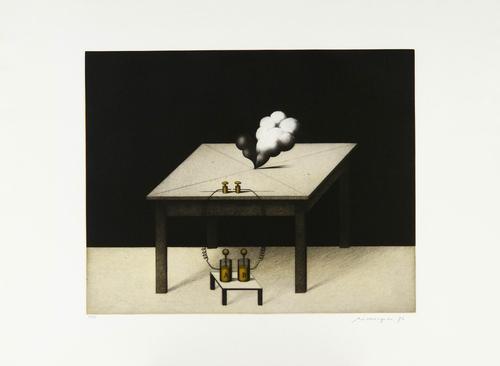 Friedrich Meckseper - Experiment, 1976, ausgezeichnete prachtvolle Arbeit in der unverwechselbaren Handschrift, handsign. kopen? Bied vanaf 520!