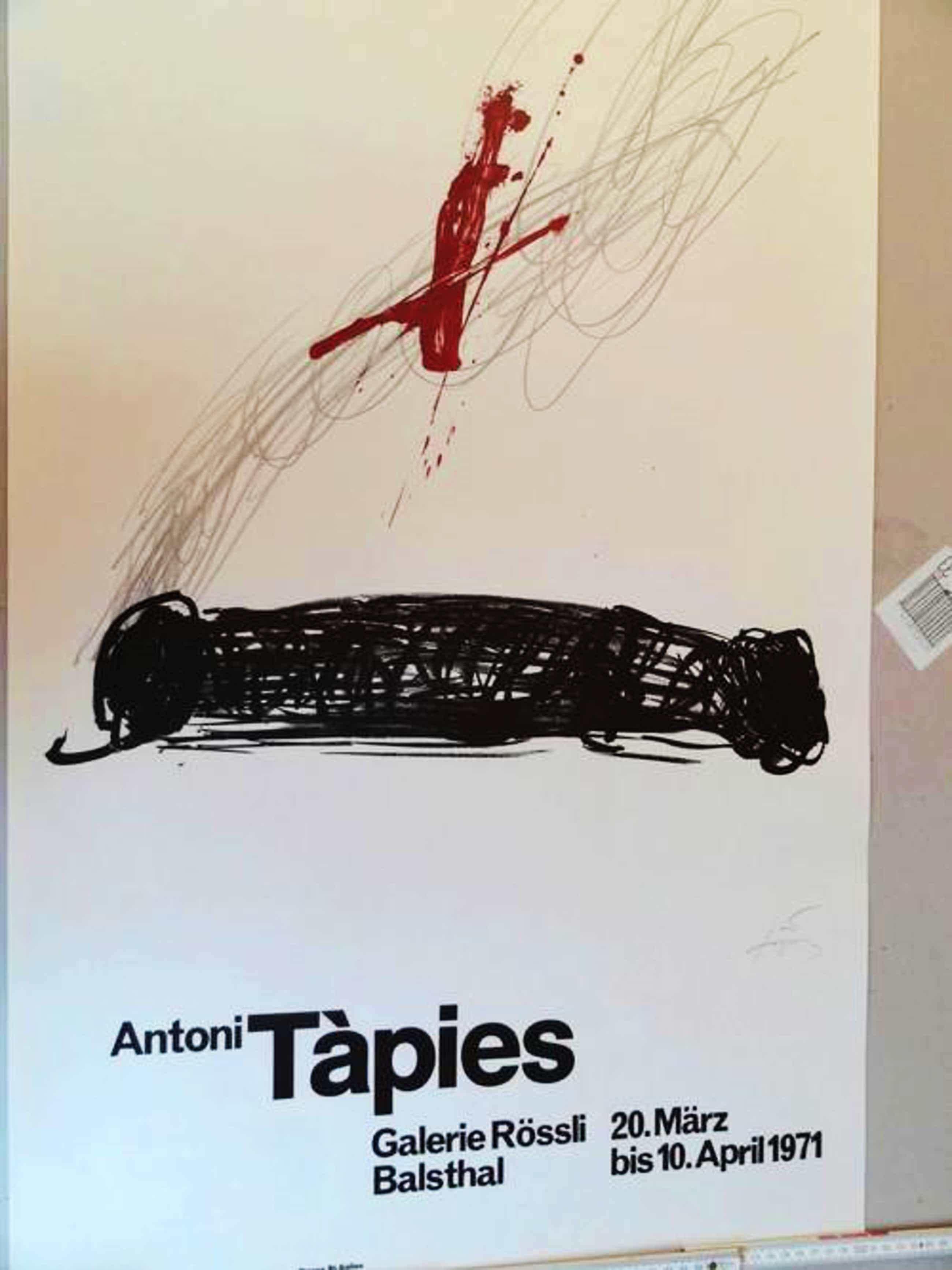 """Antoni Tapies - Exposition""""Antoni Tàpies""""-handsigniert, RAR- kopen? Bied vanaf 200!"""