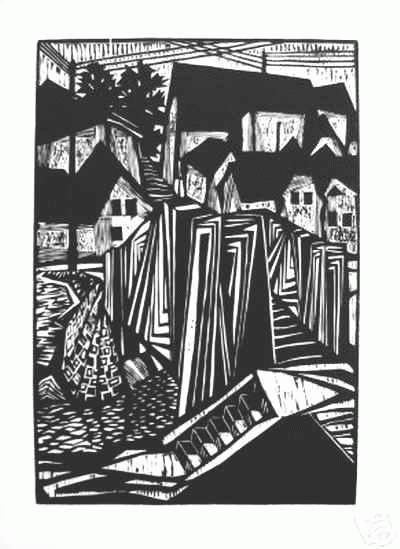 Heinz Kupfernagel - Expressionist. DORF - Handsignierter OriginalHolzschnitt des Erich HECKEL Meisterschülers aus BOCHUM kopen? Bied vanaf 50!