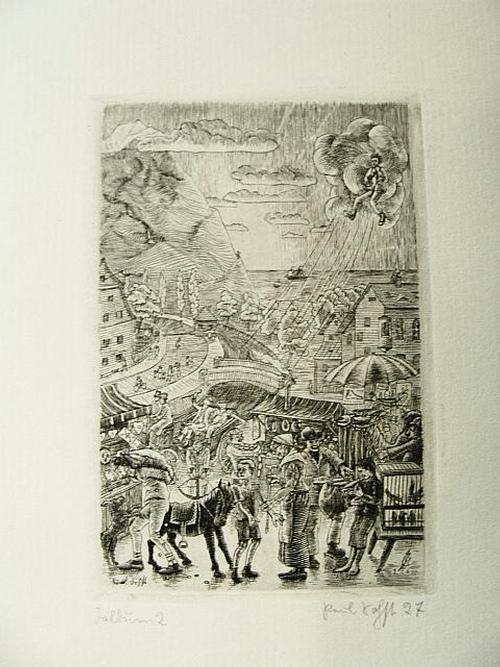 Paul Sohst - Faldum 2 Balder-Presse. Handsignierter Kupferstich von 1929 kopen? Bied vanaf 25!