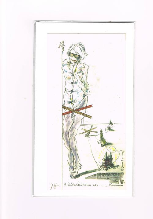 Horst Janssen - Farb-Offsetdruck <Andy Warhol>, 1980, signiert kopen? Bied vanaf 198!