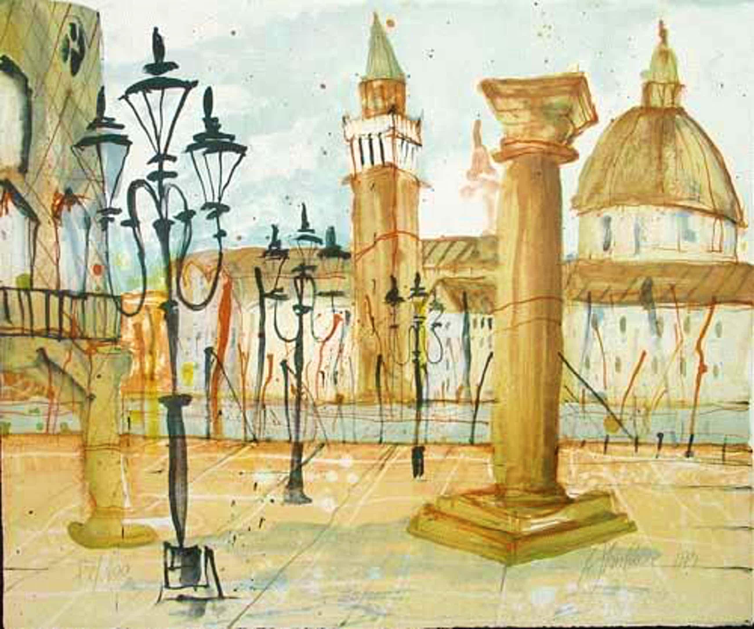 Gerhard Almbauer - Venedig, Farblithografie, handsigniert, nummeriert kopen? Bied vanaf 190!