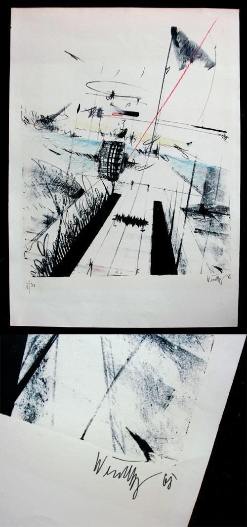 Philipp Weichberger - Farblithographie, 1968. kopen? Bied vanaf 150!