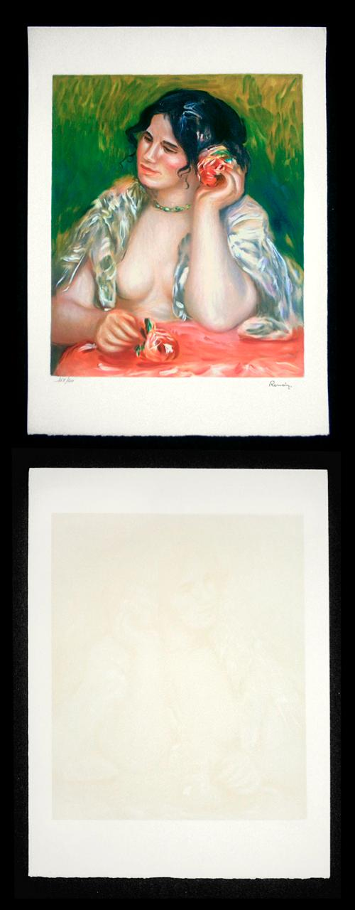 Auguste Renoir - Farblithographie auf Arches, Gabriela, lim. 250, mit Signaturstempel. kopen? Bied vanaf 110!