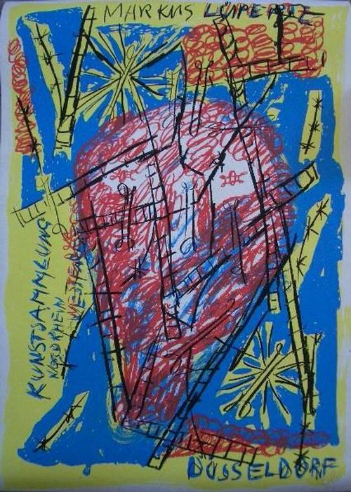 Marcus Lupertz - Farblithographie, handsigniert kopen? Bied vanaf 220!