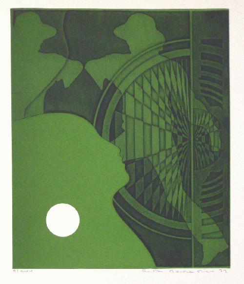 Ulf Rustan Badendieck - Farbradierung 1972, Druckbild 23,3 x 20 cm kopen? Bied vanaf 27!