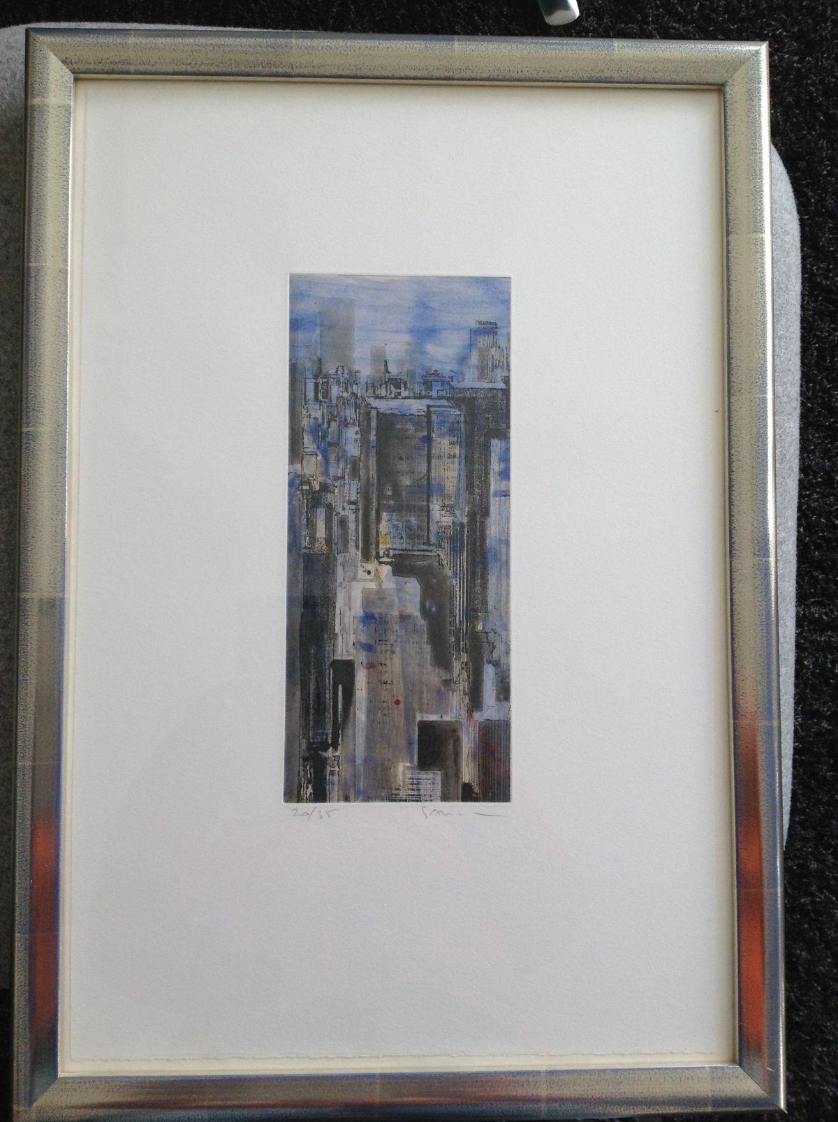 Gottfried Salzmann - Farbradierung New York-handkoloriert, sign.,nummeriert-Ex.20/35 kopen? Bied vanaf 270!