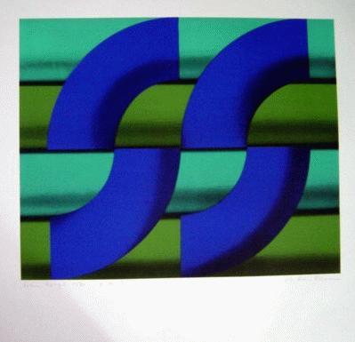 Hans Nagel - Farbserigrafie,1970, signiert und datiert, Blatt 60x60cm, Bild 40,5x50cm kopen? Bied vanaf 79!