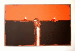 Hans Schreiner - Farbserigrafie, Bild: 28,5x46cm, Blatt: 42x59,5cm, num. 259/300, signiert kopen? Bied vanaf 95!