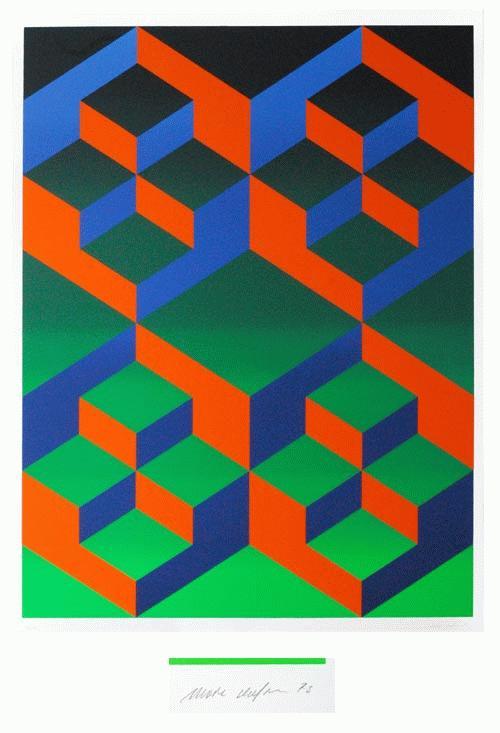 Marc Adrian - FARBSERIGRAPHIE AUF KUNSTSTOFF-FOLIE - Handsigniert, 1973,numeriert kopen? Bied vanaf 390!