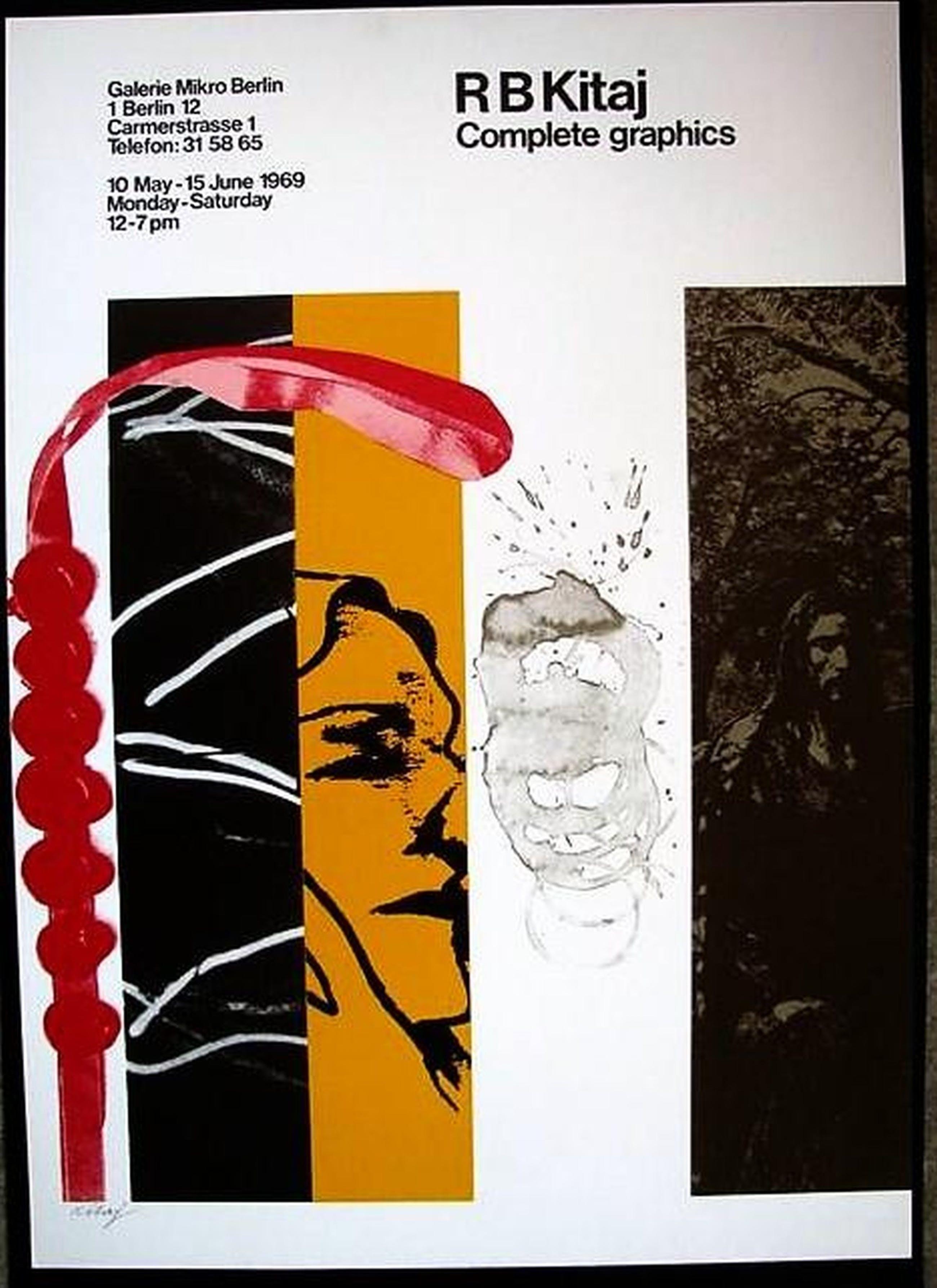 Ronald B. Kitaj - FARBSERIGRAPHIE - FOR FEAR - 1969 signiert . kopen? Bied vanaf 280!