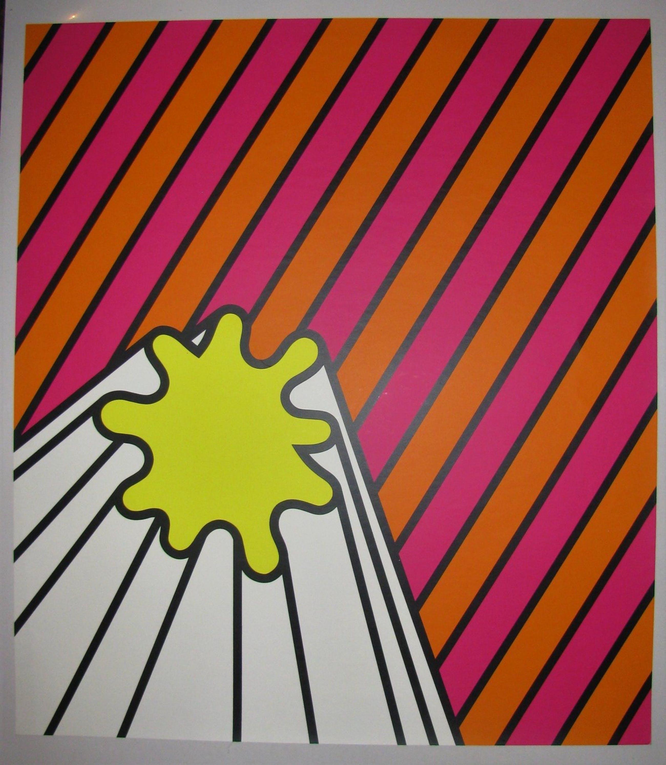 Nicholas Krushenick - FARBSERIGRAPHIE - Großformat 1969 signiert . kopen? Bied vanaf 390!