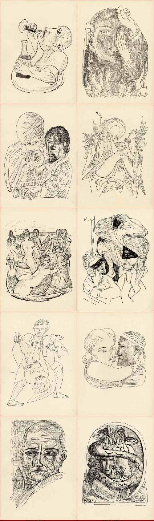 Max Beckmann - FAUST - GOETHE - 35 OriginalHolzstiche zu Der TRAGÖDIE 2.Teil - 1957 - Maximilian-Gesellschaft kopen? Bied vanaf 155!
