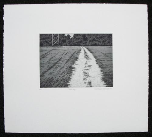 Michael Rausch - Feldweg. Radierung, 1988. kopen? Bied vanaf 60!