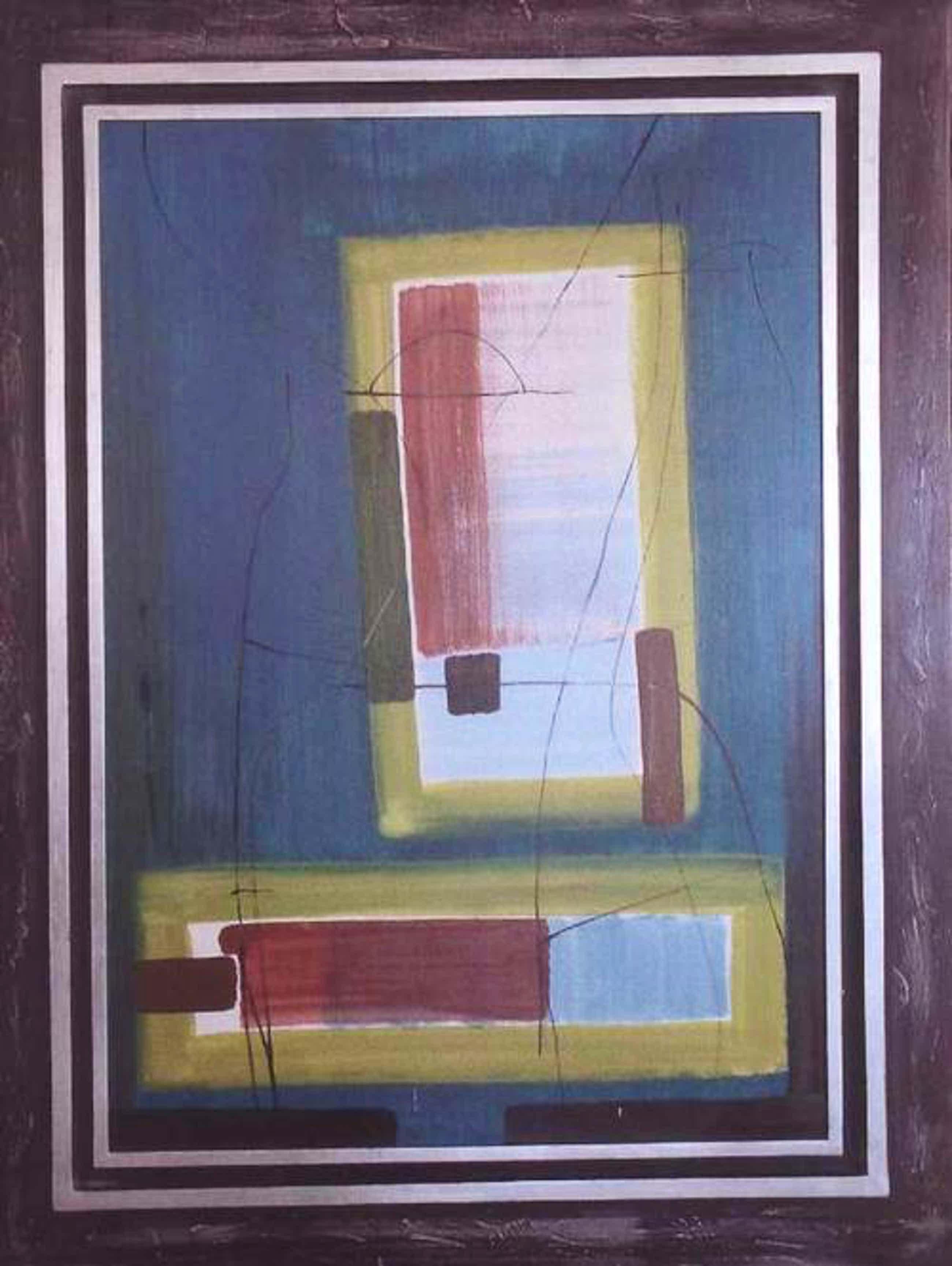 Hans Jaenisch - Fensterbild Öl auf karton auf Holz ca. 1965 kopen? Bied vanaf 4870!