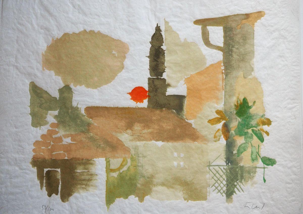 Hans André Ficus - Ficus, Andre , Große Farblithographie RONCO auf Seidenpapier, signiert und nummeriert kopen? Bied vanaf 150!