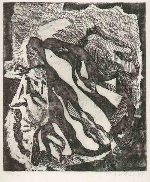 Günter Horlbeck - - FIGURATION - OriginalRadierung des Max SCHWIMMER-Schülers - 1975 - handsigniert und datiert kopen? Bied vanaf 64!