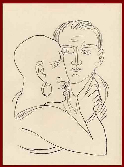 Max Beckmann - FINSTERE GALERIE - Die MÜTTER SIND ES ! - 1957 - OriginalHolzstich zu GOETHEs FAUST kopen? Bied vanaf 54!