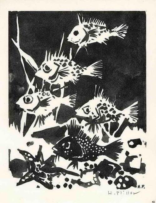 Henry Plisson - FISCHE - POISSONS - Handsignierte Druckgraphik des FRANZÖSISCHEN KERAMIKERs auf ARCHES-Bütten 1962 kopen? Bied vanaf 35!