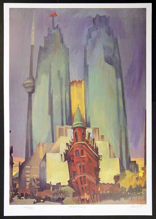 Rudolf Stüssi - Flatiron Building - Architektur der Moderne - handsignierte, nummerierte und betitelte Grafik kopen? Bied vanaf 68!