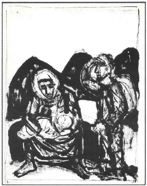 Otto Dix - FLUCHT nach ÄGYPTEN OriginalLithographie (Handabzug) d.ENTARTETEN DADAisten der DRESDENer SEZESSION kopen? Bied vanaf 60!