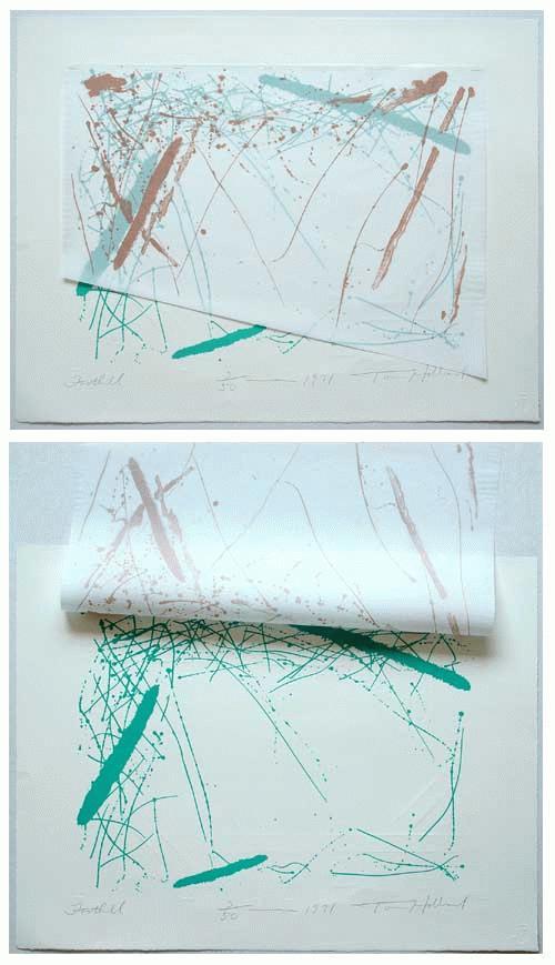 Tom Holland - - Foothill -, Farblithografie/Collage, handsigniert, datiert, Auflage 50 kopen? Bied vanaf 190!