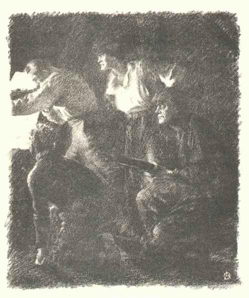 Alexander Oppler - FRANCTIREURs - 1915/16 - Original-KreideLithographie - BERLINer & MÜNCHENer SECESSION kopen? Bied vanaf 56!