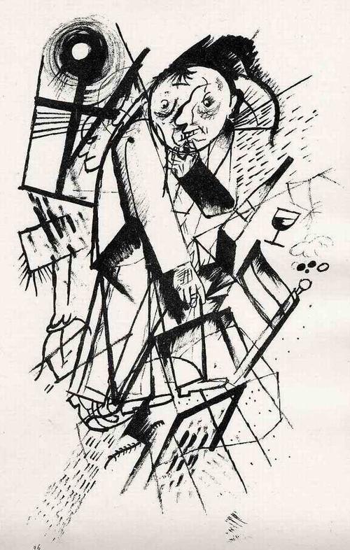 Georg Grosz - FRANZ JUNG - 1923 - Expressionistische Lithographie - Original aus dem Zyklus ECCE HOMO (MalikVrlg) kopen? Bied vanaf 99!