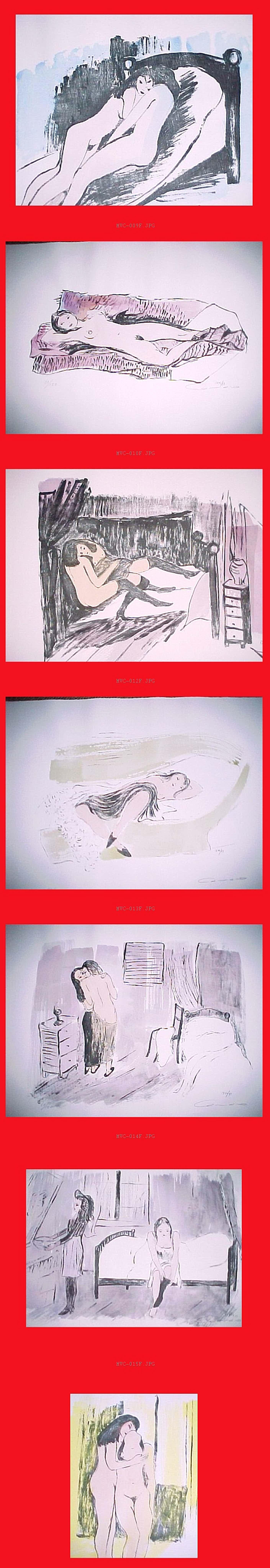 Alexander Camaro - Freundinnen, 7 aquarellierte Lithografien 1946/73 kopen? Bied vanaf 300!
