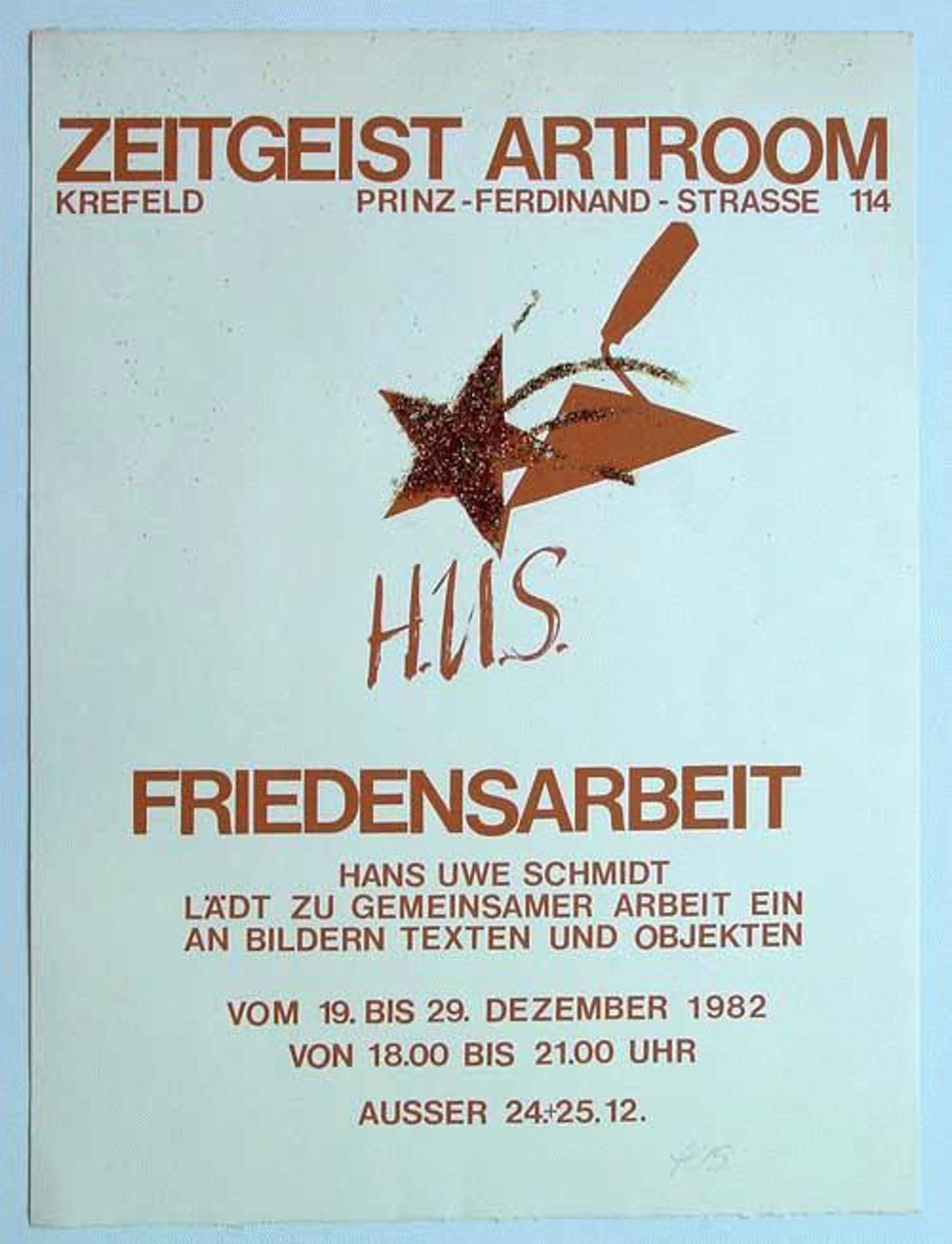 Hans Uwe Schmidt - - Friedensarbeit Zeitgeist Artroom - Lithografie und Glassplitter auf Bütten, handmonogrammiert kopen? Bied vanaf 90!