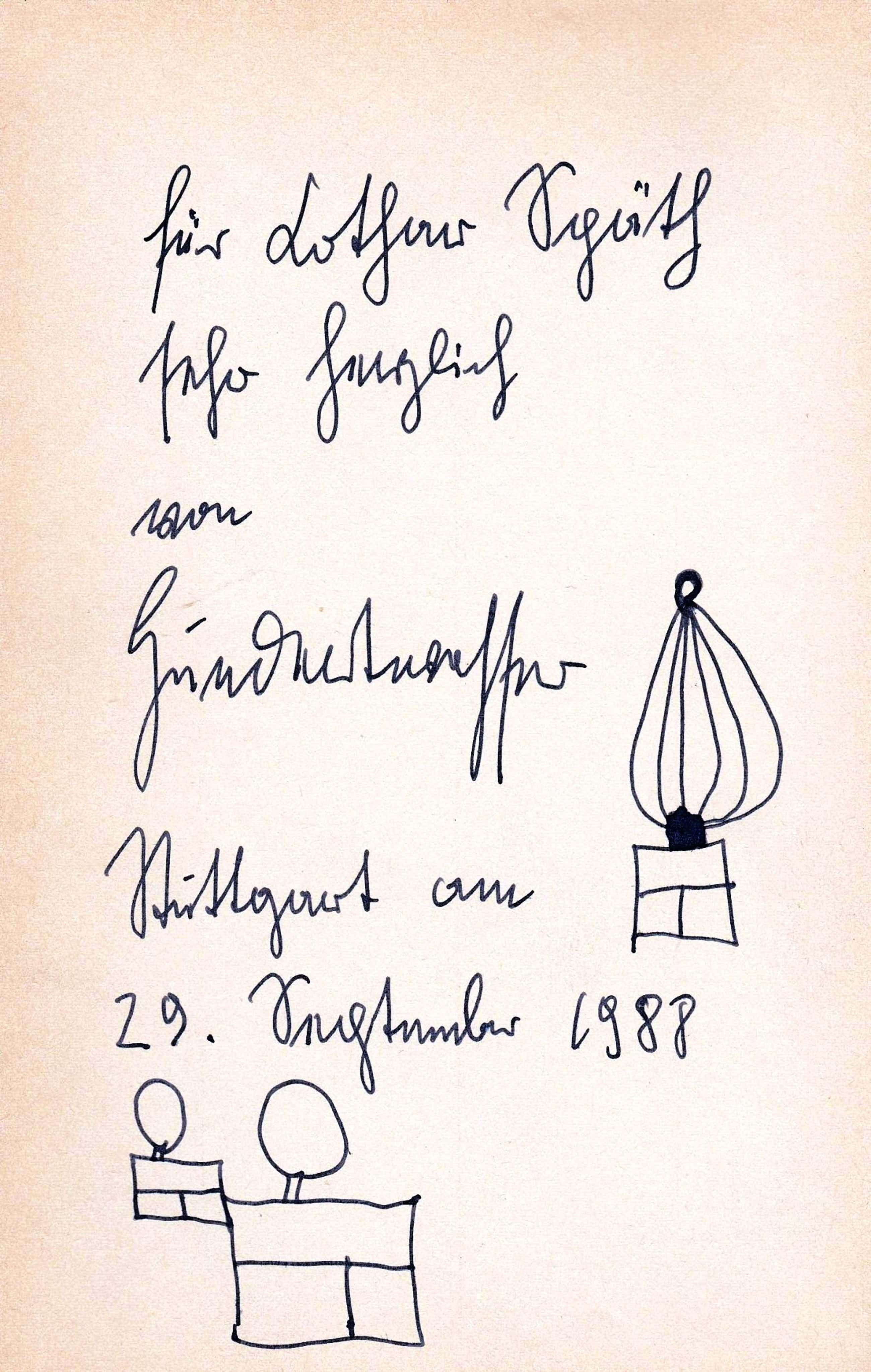 Fritz Hundertwasser - Friedensreich Hundertwasser - signierte Zeichnung kopen? Bied vanaf 900!