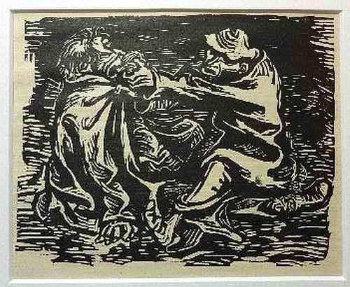 Ernst Barlach - FRISS, VATER KUMMER FRISS - 1922 - OriginalHolzschnitt aus der Holzschnittfolge FINDLING kopen? Bied vanaf 65!