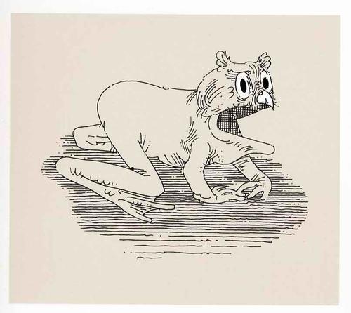William Crutchfield - FROG-OWL - Handsigned Original Silkscreen 1970 - Artistproof (John Herron School of Art) FROSCH-EULE kopen? Bied vanaf 36!