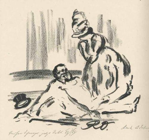 Rudolf Odebrecht - FRÜHER SCHNAPS JET - Handsignierte & titulierte OriginalLithographie 1925 kopen? Bied vanaf 65!