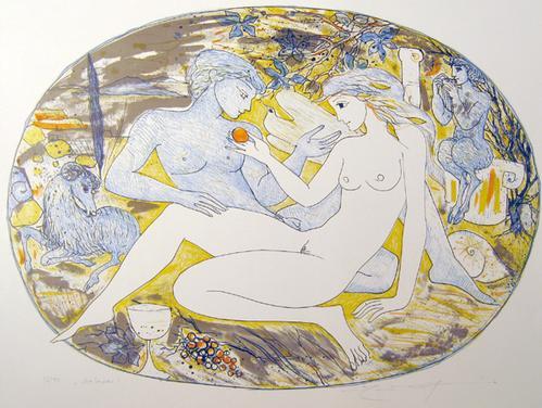 Elfriede Weidenhaus - Galatea, Farblithographie,1980 kopen? Bied vanaf 80!