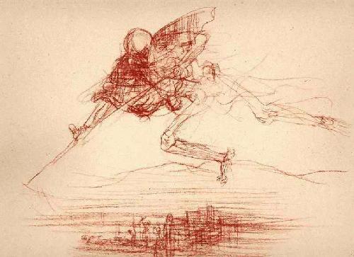 Heinrich Graf Luckner - - GEBIET des TODES - 1947 Original Lichtdruck nach Rötelzeichnung GANYMED Berlin f. Gebr.Mann Berlin kopen? Bied vanaf 32!