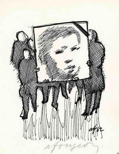 Andrè Fougeron - GEDENKEN 1962 - Handsignierte Druckgraphik auf ARCHES-Bütten kopen? Bied vanaf 35!