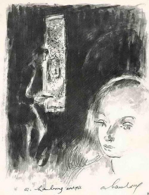 Andrè Hambourg - GEFÄHRLICHE SPIELE - Die SCHÖNE GEISEL August 1962 - Handsignierte Druckgraphik auf ARCHES-Bütten kopen? Bied vanaf 35!