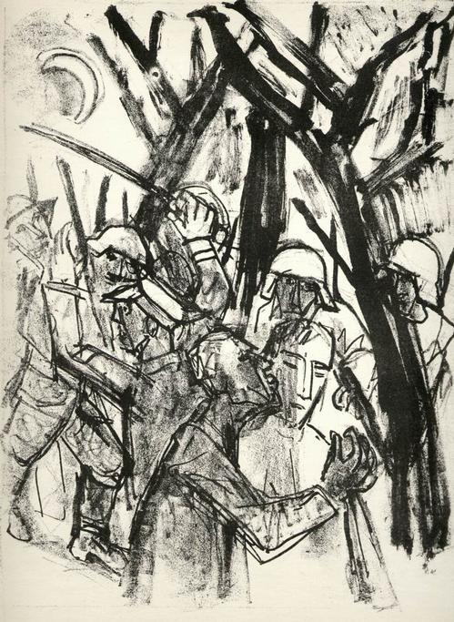 Otto Dix - GEFANGENNAHME - OriginalLithographie (Handabzug) d.ENTARTETEN DADAisten der DRESDENer SEZESSION kopen? Bied vanaf 53!